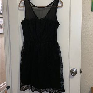 Trina Turk black lace sleeveless dress